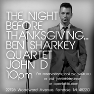 Wednesday November 21 2012 - Ben Sharkey Quartet